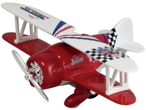 Classic Wing Airplane Pullback - Red Biplane