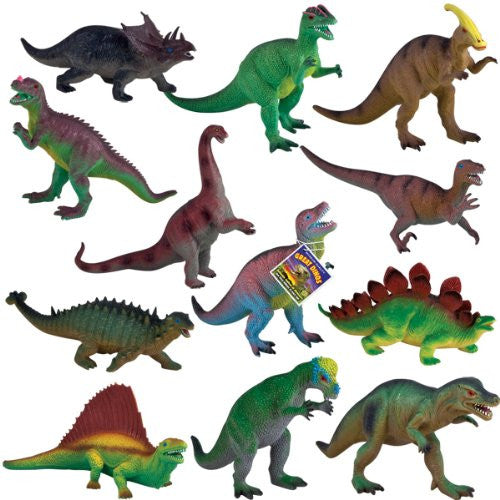 Real-As-Life Dinosaurs, 12-PC Assortment
