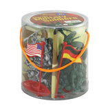 Military Figures in Mini Carry Bucket 56-pc