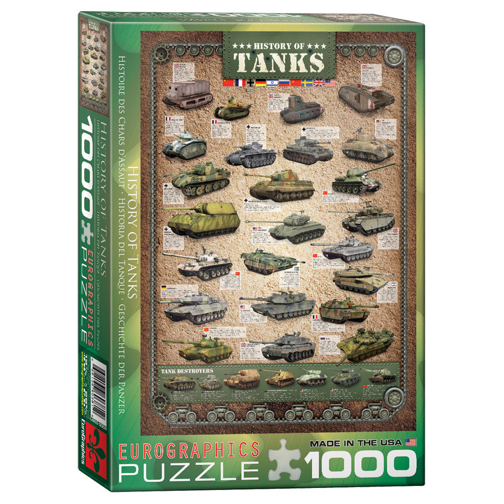 History of Tanks Puzzle - 1,000 Pieces