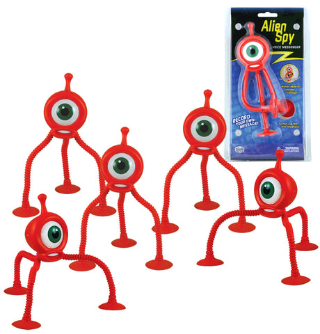 SET of 5 Orange Durable Plastic Motion Detectable Playback Devices with Bendable Legs and Suction Cup Feet by Eastcolight.