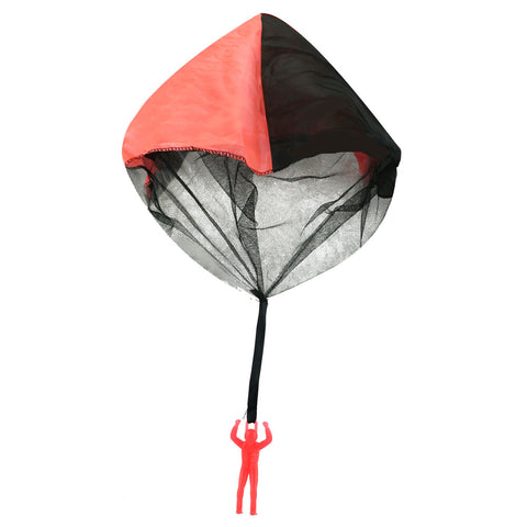 4 Inch Orange Durable Plastic Glow In the Dark Skydiver with 20 Inch Tangle Free Fabric Parachute.