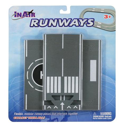3 Straight Sections of Soft Flexible Modular Foam Runway Pieces that Interlock to Create a Variety of Runway Layouts in its Original Packaging. Combine with Curved & Intersection Pieces by RedBox / Motormax.