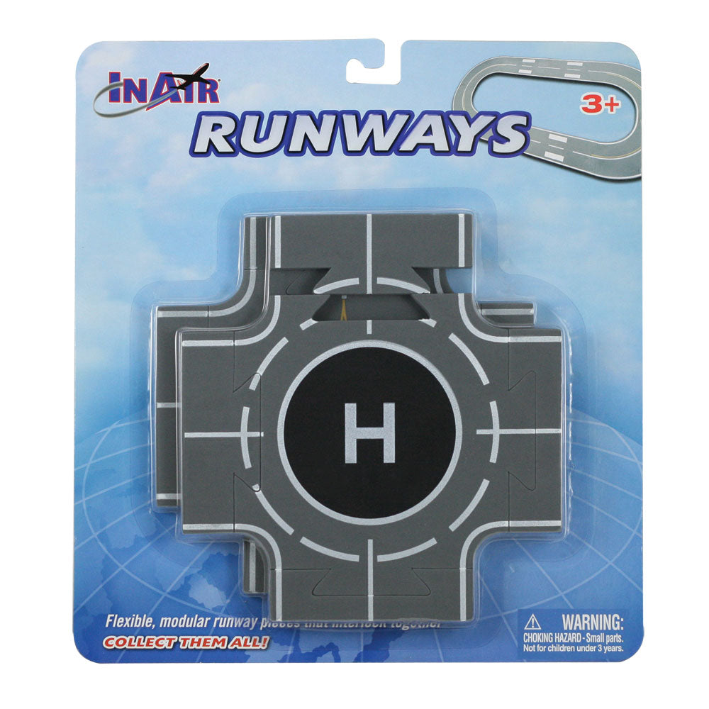 2 Intersection Sections of Soft Flexible Modular Foam Runway Pieces that Interlock to Create a Variety of Runway Layouts in its Original Packaging. Combine with Straight & Curved Pieces by RedBox / Motormax.