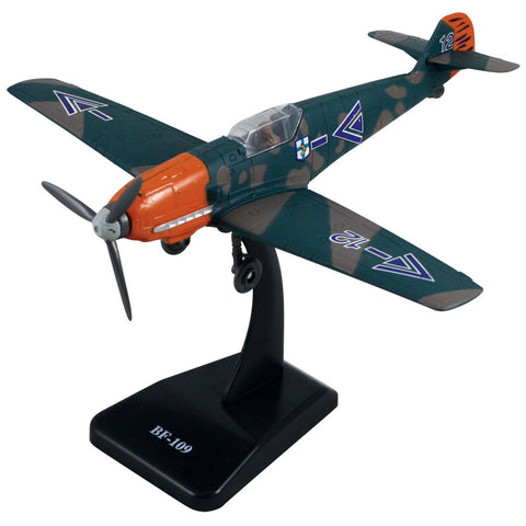 Highly Detailed 1:48 Scale Plastic Model Kit Replica of a Messerschmitt Bf 109 German World War II Fighter Aircraft with Detailed Markings and Display Stand that Includes Everything Needed for Assembly.