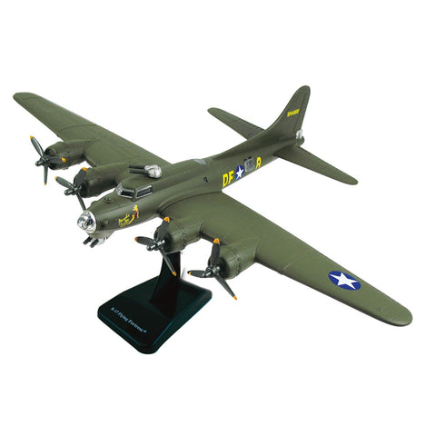 "Highly Detailed 1:144 Scale Plastic Model Kit Replica of a Boeing B-17 Flying Fortress ""Memphis Belle"" Green Heavy Bomber Aircraft with Detailed Markings and Display Stand that Includes Everything Needed for Assembly."