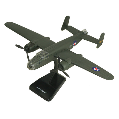 Highly Detailed 1:144 Scale Plastic Model Kit Replica of a North American B-25 Mitchell Medium Bomber Aircraft with Detailed Markings and Display Stand that Includes Everything Needed for Assembly.