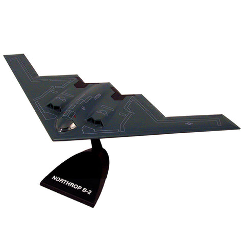 Highly Detailed 1:72 Scale Plastic Model Kit Replica of a Northrop Grumman B-2 Spirit Stealth Bomber Aircraft with Detailed Markings and Display Stand that Includes Everything Needed for Assembly.