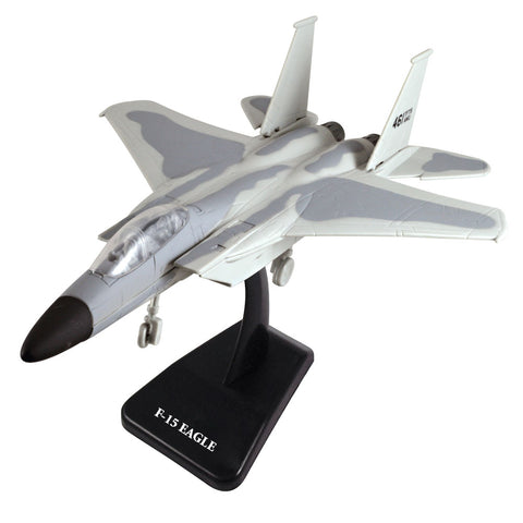 Highly Detailed 1:72 Scale Plastic Model Kit Replica of a McDonnell Douglas F-15 Eagle Tactical Fighter Aircraft with Detailed Markings and Display Stand that Includes Everything Needed for Assembly.
