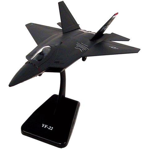 Highly Detailed 1:72 Scale Plastic Model Kit Replica of a Lockheed Martin F-22 Raptor Stealth Air Force Fighter Aircraft with Detailed Markings and Display Stand that Included Everything Needed for Assembly.