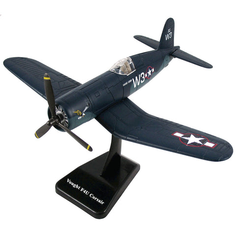 Highly Detailed 1:48 Scale Plastic Model Kit Replica of a Vought F4U Corsair World War II Fighter Bomber Aircraft with Detailed Markings and Display Stand that Included Everything Needed for Assembly.