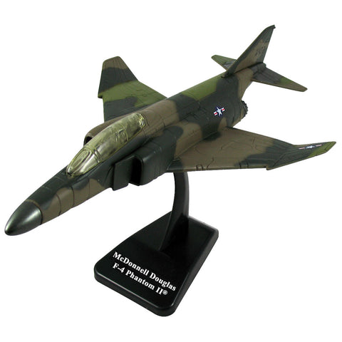 Highly Detailed 1:72 Scale Plastic Model Kit Replica of a McDonnell Douglas Camouflage F-4 Phantom II Supersonic Jet Fighter Bomber Aircraft with Detailed Markings and Display Stand that Includes Everything Needed for Assembly.