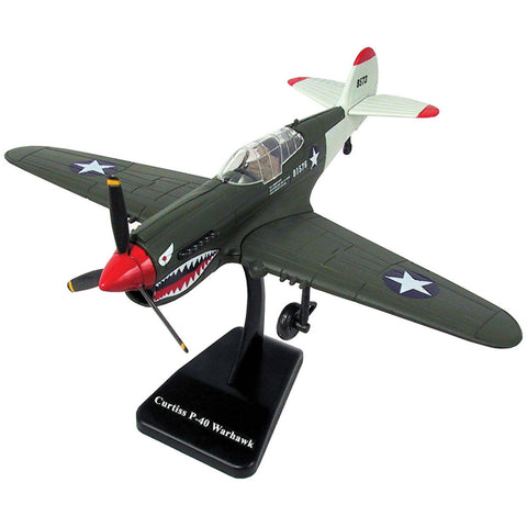 Highly Detailed 1:48 Scale Plastic Model Kit Replica of a Curtiss P-40 Warhawk Kittyhawk World War II Fighter Aircraft with Detailed Markings and Display Stand that Included Everything Needed for Assembly.