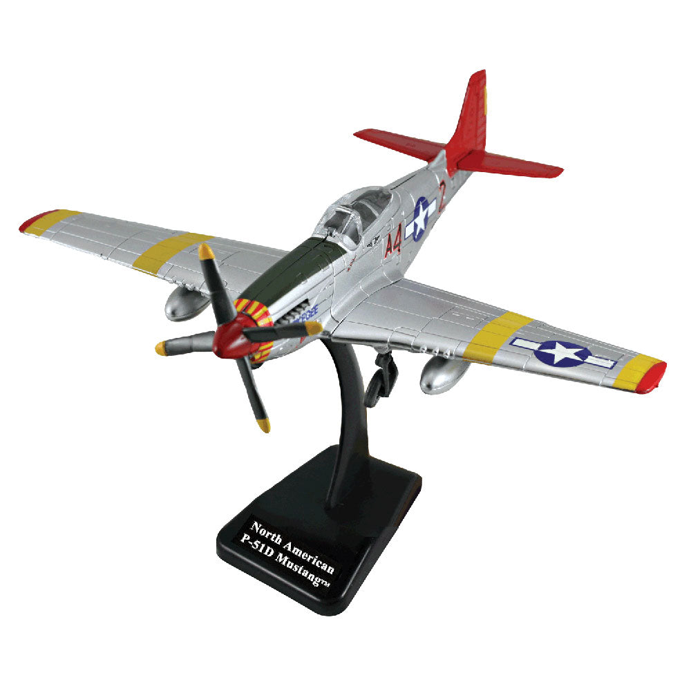 "Highly Detailed 1:72 Scale Plastic Model Kit Replica of a North American P-51 Mustang Tuskegee Airman ""Red Tails"" World War II Fighter Bomber Aircraft with Detailed Markings and Display Stand that Included Everything Needed for Assembly."