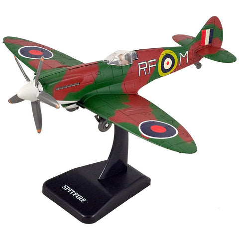 Highly Detailed 1:48 Scale Plastic Model Kit Replica of a Supermarine Spitfire World War II British Royal Air Force Fighter Aircraft with Detailed Markings and Display Stand that Includes Everything Needed for Assembly.