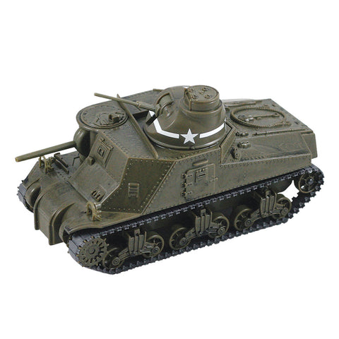 Highly Detailed 1:32 Scale Plastic Model Kit Replica of a World War II M3 Lee Military Tank that Includes Everything Needed for Assembly and is Built Up in about 10 Minutes measuring 8 Inches once Fully Assembled.