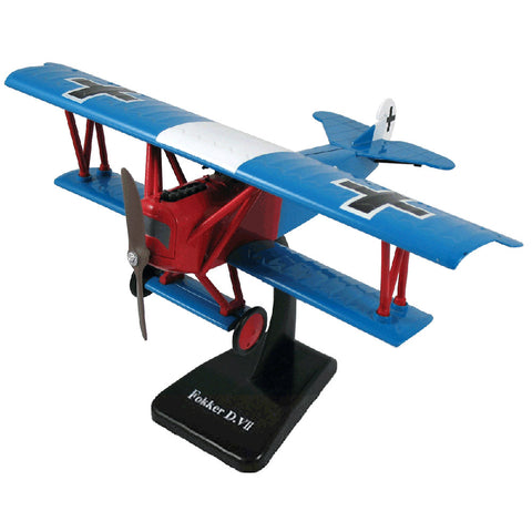 Highly Detailed 1:48 Scale Plastic Model Kit Replica of a Fokker D.VII World War I German Biplane Fighter Aircraft with Detailed Markings and Display Stand that Includes Everything Needed for Assembly.