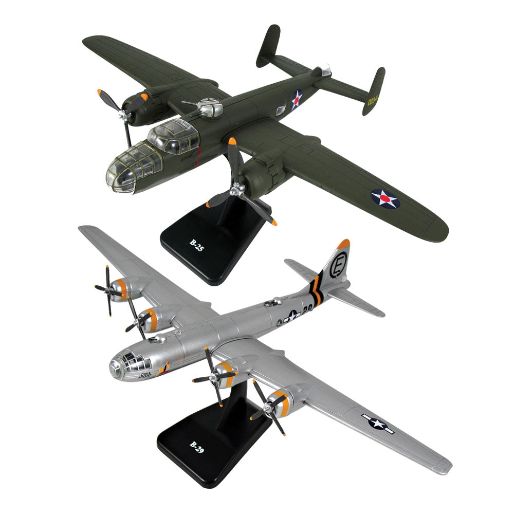 InAir E-Z Build WWII Bomber Model Kit 2-pack - B-25 Mitchell & B-29 Superfortress