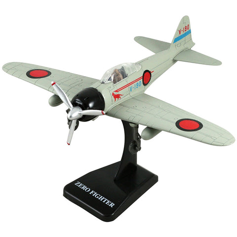 Highly Detailed 1:48 Scale Plastic Model Kit Replica of a Mitsubishi A6M Zero World War II Imperial Japanese Navy Fighter Aircraft with Detailed Markings and Display Stand that Includes Everything Needed for Assembly.