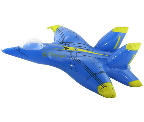25 Inch Long Jumbo Inflatable F/A-18 Hornet Blue Angels Aircraft with Hook for Hanging.