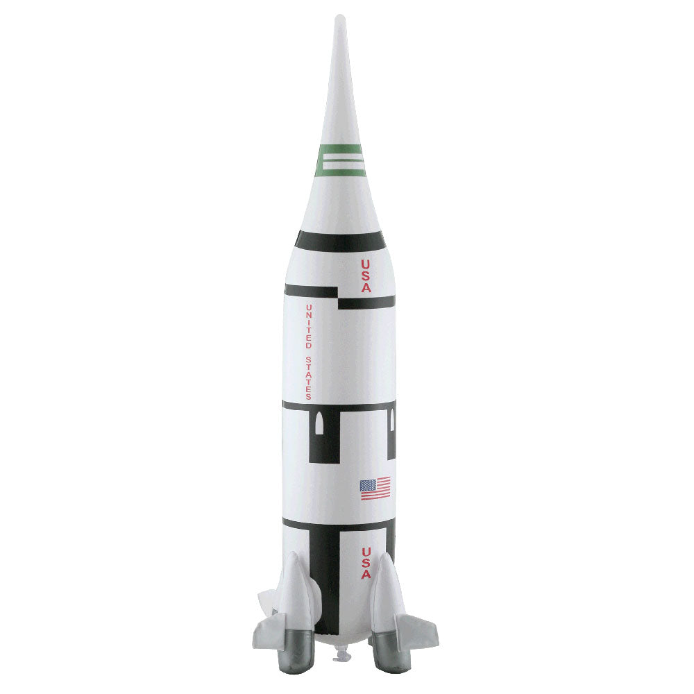 24 Inch Tall Jumbo Inflatable NASA Apollo Program Saturn V Rocket with Hook for Hanging.