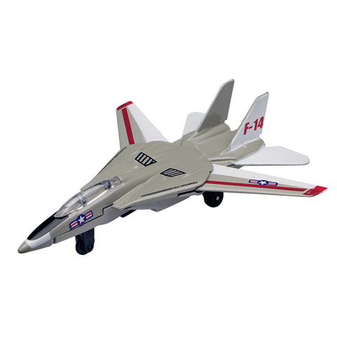4.5 Inch Small Die Cast Metal Northrup Grumman F-14 Tomcat Sweep Wing Fighter Aircraft with Authentic Markings and Details by RedBox / Motormax.