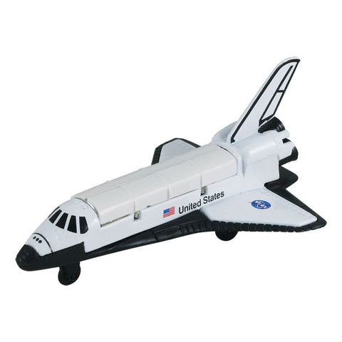 4.5 Inch Small Die Cast Metal NASA Space Shuttle Orbiter with Authentic Markings and Details by RedBox / Motormax.
