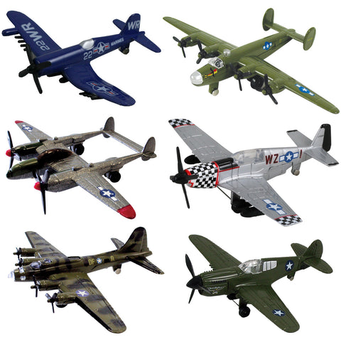 InAir WWII Planes with Aircraft ID Guide - Assortment 1 - SET of 6