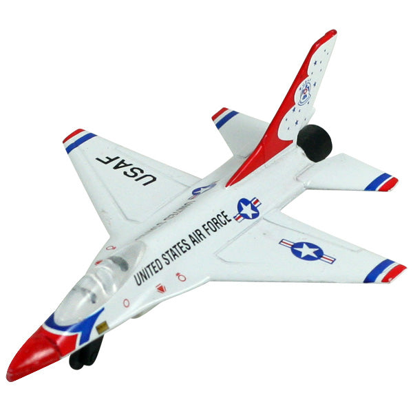 Lockheed F-16 Fighting Falcon Thunderbirds diecast metal modern jet toy airplane. InAir Diecast Flyer