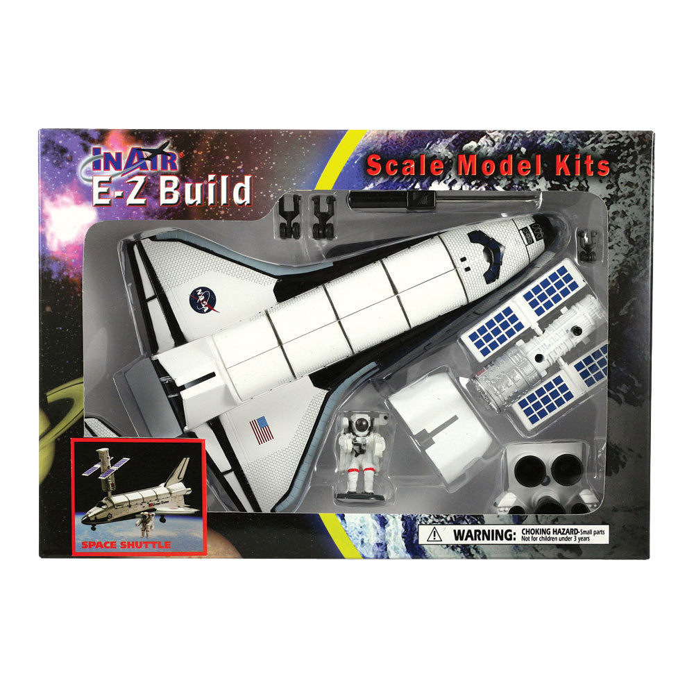 Highly Detailed Plastic Model Kit Replica of the NASA Space Shuttle Orbiter (Enterprise, Columbia, Challenger, Discovery, Atlantis & Endeavour) with Detailed Markings, Display Stand and Astronaut in its Original Packaging.