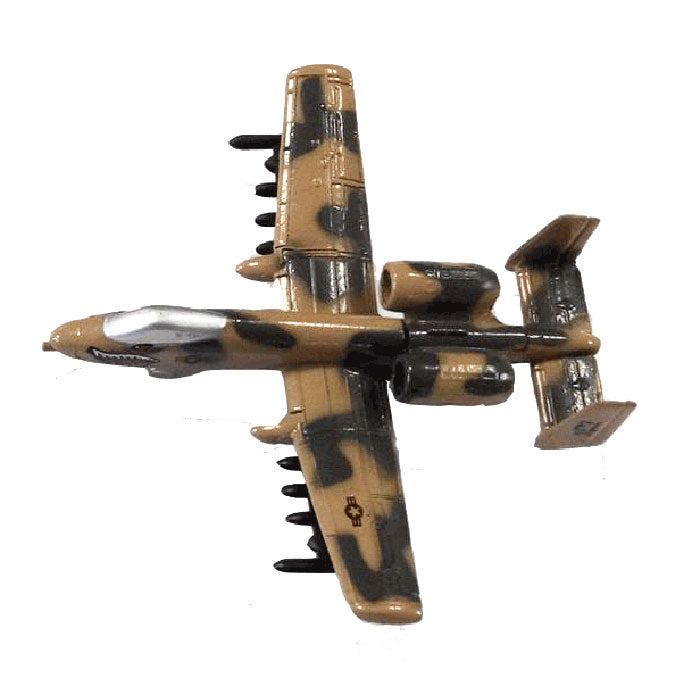 3.5 Inch Small Diecast Metal Fairchild Republic Camouflage A-10 Thunderbolt II Aircraft with Authentic Markings and Details. InAir RedBox / Motormax.