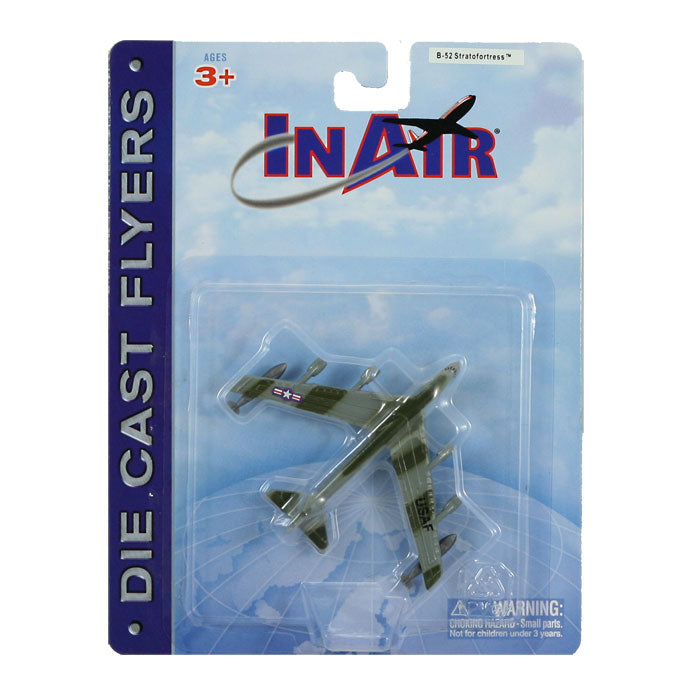 3.5 Inch Small Die Cast Metal Boeing B-52 Stratofortress Long Range Bomber Aircraft with Authentic Markings and Details in its Original Packaging by RedBox / Motormax.