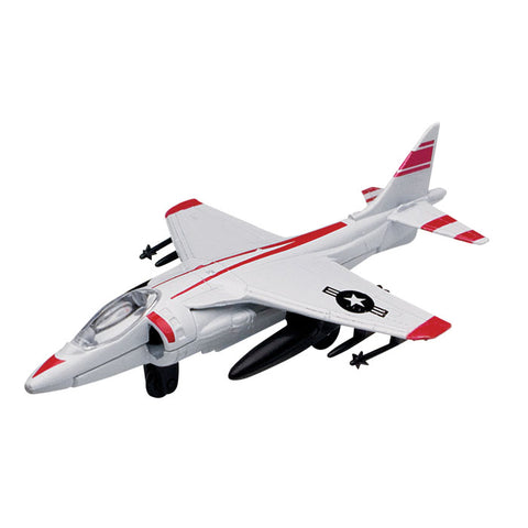 4.5 Inch Small Die Cast Metal McDonnell Douglas AV-8B Harrier II Jump Jet Ground Attack Aircraft with Authentic Markings and Details by RedBox / Motormax.