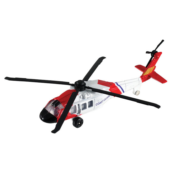 4.5 Inch Diecast Metal US Coast Guard Sikorsky UH-60 Night Hawk Rescue Helicopter with Authentic Markings and Details InAIr Diecast Flyers RedBox / Motormax.