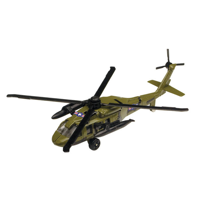 3.5 Inch Diecast Metal Green Sikorsky UH-60 Night Hawk Helicopter with Authentic Markings and Details InAir Diecast Flyer RedBox / Motormax.