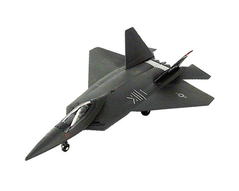 8 Inch Die Cast Metal and Plastic Friction Powered Pullback Lockheed Martin F-22 Raptor Stealth Fighter Aircraft in Black with Historically Accurate Markings.