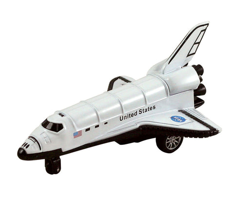 5 Inch Long Durable Die Cast Metal Replica of the NASA Space Shuttle Orbiter (Enterprise, Columbia, Challenger, Discovery, Atlantis & Endeavour) with Friction Powered Pullback Action and Authentic Markings.