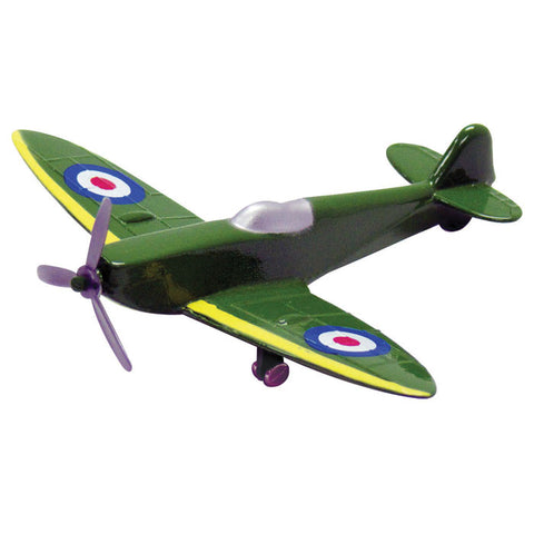 3.5 Inch Small Die Cast Metal British Royal Air Force Supermarine Spitfire World War II Aircraft with Authentic Markings and Details by RedBox / Motormax.