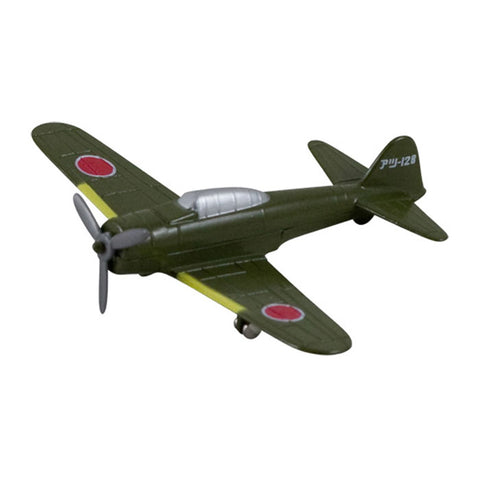 3.5 Inch Small Die Cast Metal Green Mitsubishi A6M Zero Fighter World War II Aircraft with Authentic Markings and Details by RedBox / Motormax.