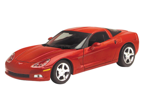 1:24 Scale Red Die Cast Chevrolet Corvette C6 Model Kit by RedBox / Motormax.