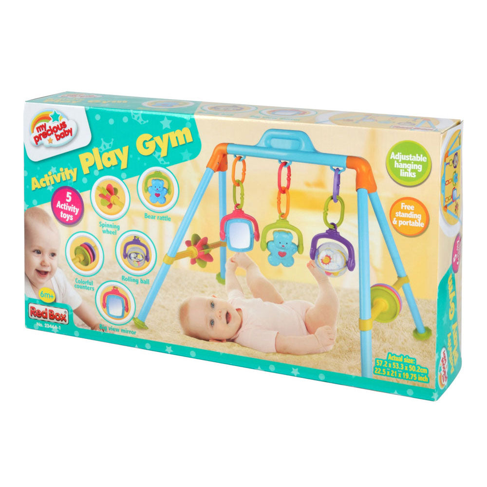 Durable Plastic Colorful Four Legged Activity Center for Babies with Interactive and Hanging Links in its Original Packaging by My Precious Baby.