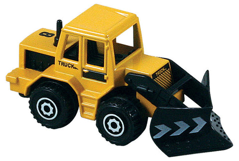 Small Die Cast Construction Vehicle, Bulldozer with Moving Parts measuring approximately 2.5 inches for Indoor or Outdoor Play.