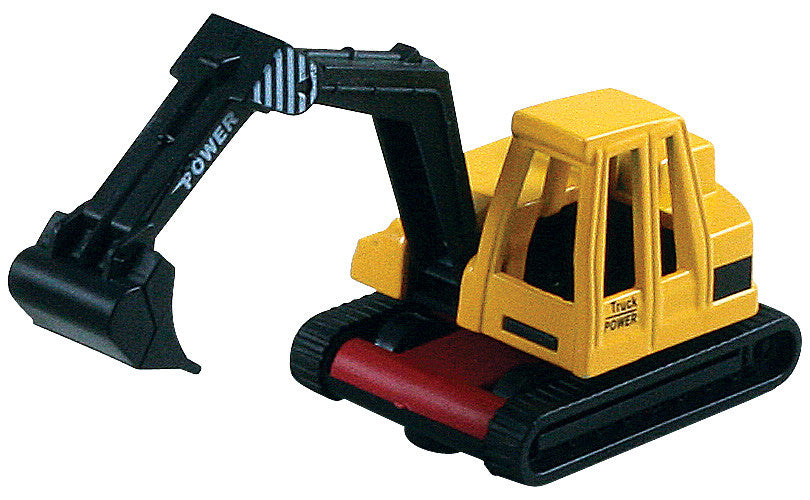 Small Die Cast Construction Vehicle, Power Shovel with Moving Parts measuring approximately 2.5 inches for Indoor or Outdoor Play.