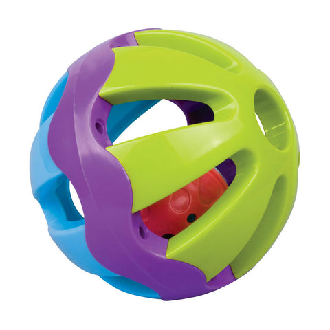 Colorful Durable Plastic Easy Grip Infant Toy Rattle Ball by My Precious Baby.