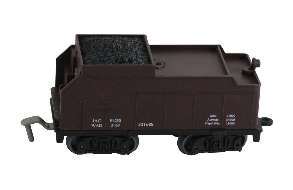 5 Inch Durable Plastic Coal Car to be used with the WowToyz 14, 20 and 40 Piece Classic Hobby Model Train Sets.