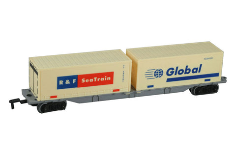 10 Inch Durable Plastic Cargo Container Car to be used with the WowToyz 14, 20 and 40 Piece Classic Hobby Model Train Sets.
