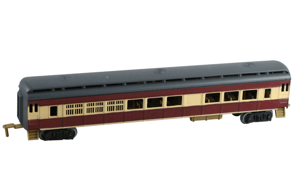11 Inch Durable Plastic Passenger Car to be used with the WowToyz 14, 20 and 40 Piece Classic Hobby Model Train Sets.