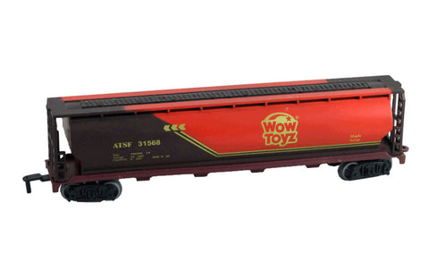 9 Inch Durable Plastic Tanker Car to be used with the WowToyz 14, 20 and 40 Piece Classic Hobby Model Train Sets with WowToyz Logo on the Side.