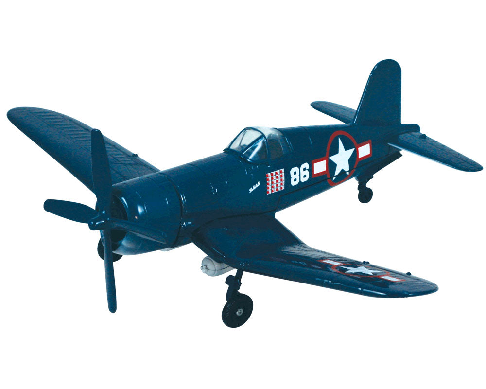 "1:48 Scale Die Cast Metal Replica Model of a Vought F4U Corsair World War II Fighter Bomber ""Lulubelle"" Aircraft with Historically Accurate Markings, Display Stand and Educational Collectors Card."