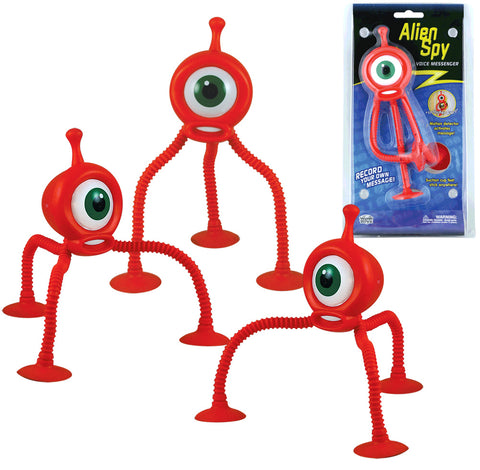 SET of 3 Orange Durable Plastic Motion Detectable Playback Devices with Bendable Legs and Suction Cup Feet by Eastcolight.